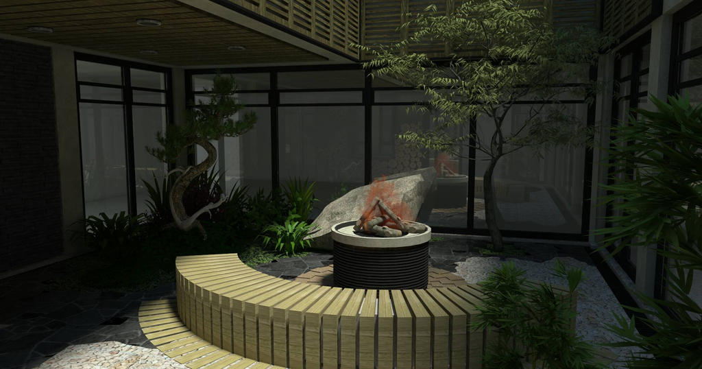 Interior Japanese Garden By Roudaserge On Deviantart