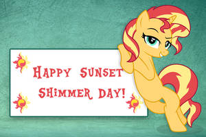 Happy Sunset Shimmer Day!!! by Spottedlions