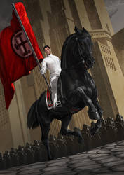 Fourth rider of the Tetragrammaton by Templado