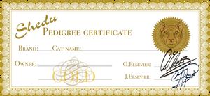 Shedu pedigree certificate [SPC]: Gold
