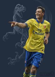 Mesut Ozil by Templado