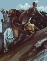 Bear hunt by Templado