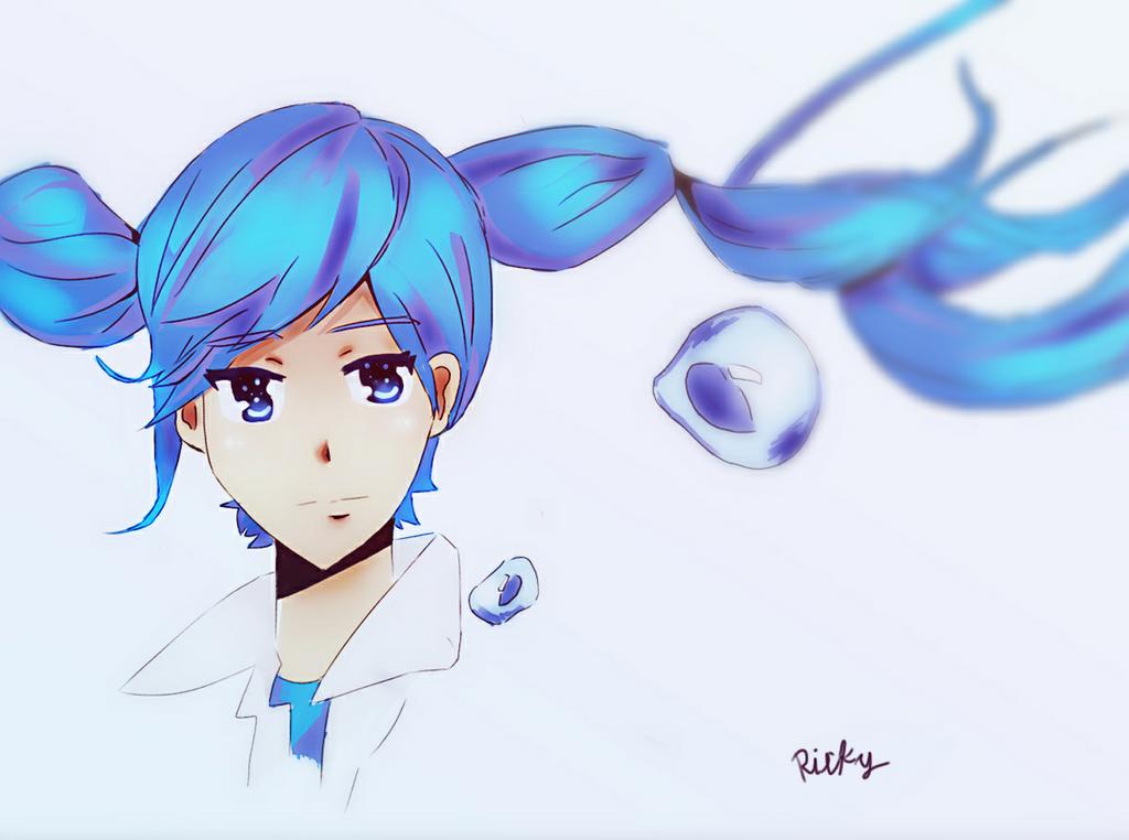 Bubble  girl Miku by Rayiky