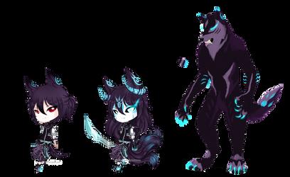 Werewolf demon CLOSED by PurrineeAdopts