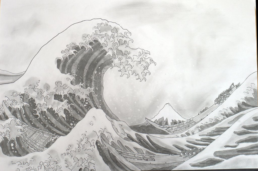 Gallery For Wave Drawing Tumblr
