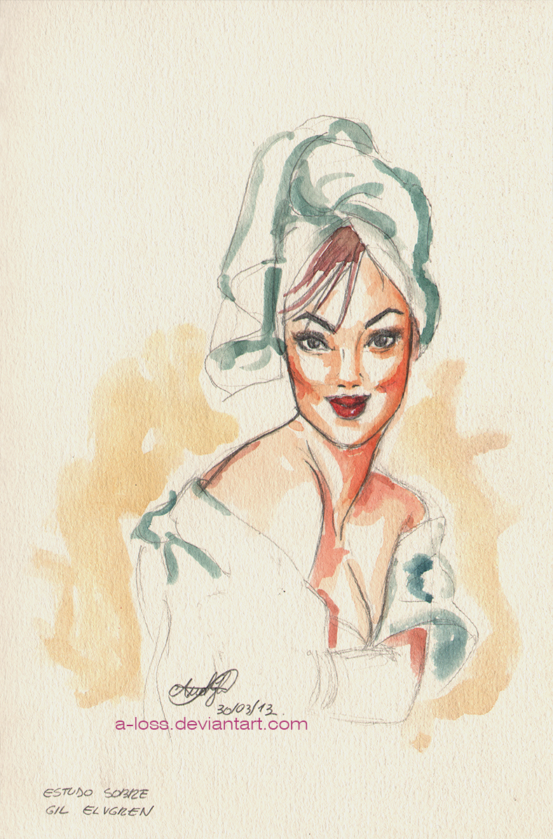 Gil Elvgren Study by A-Loss