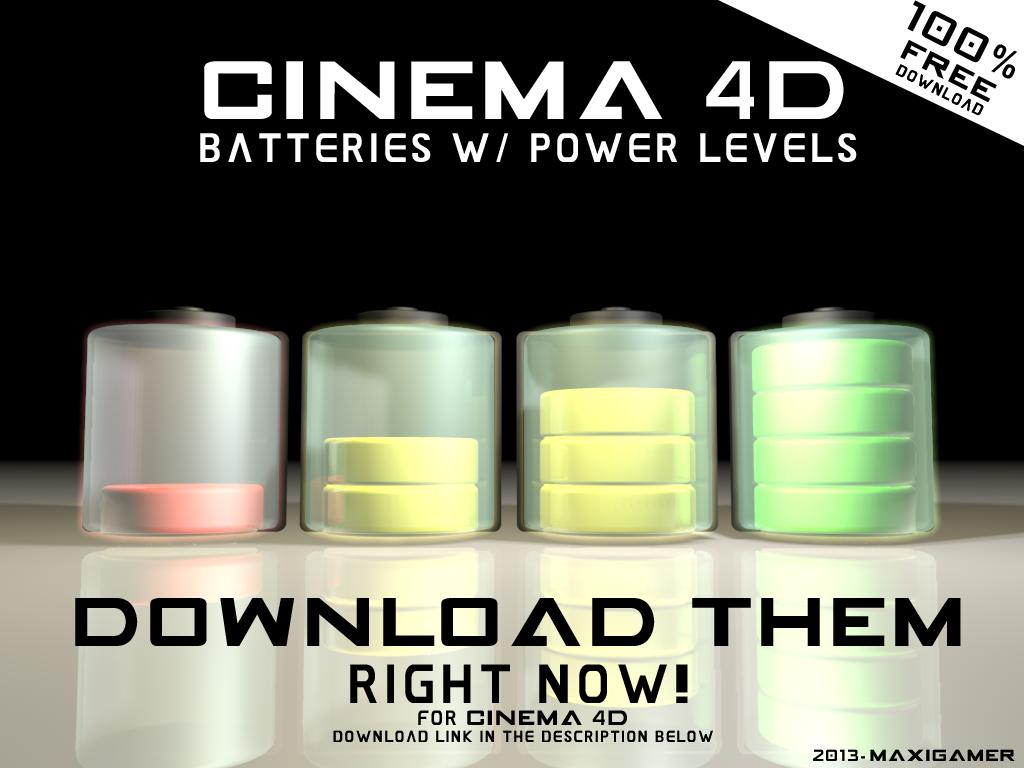 Cinema 4D] Batteries 3D models for Cinema 4D by MaxiGamer on DeviantArt