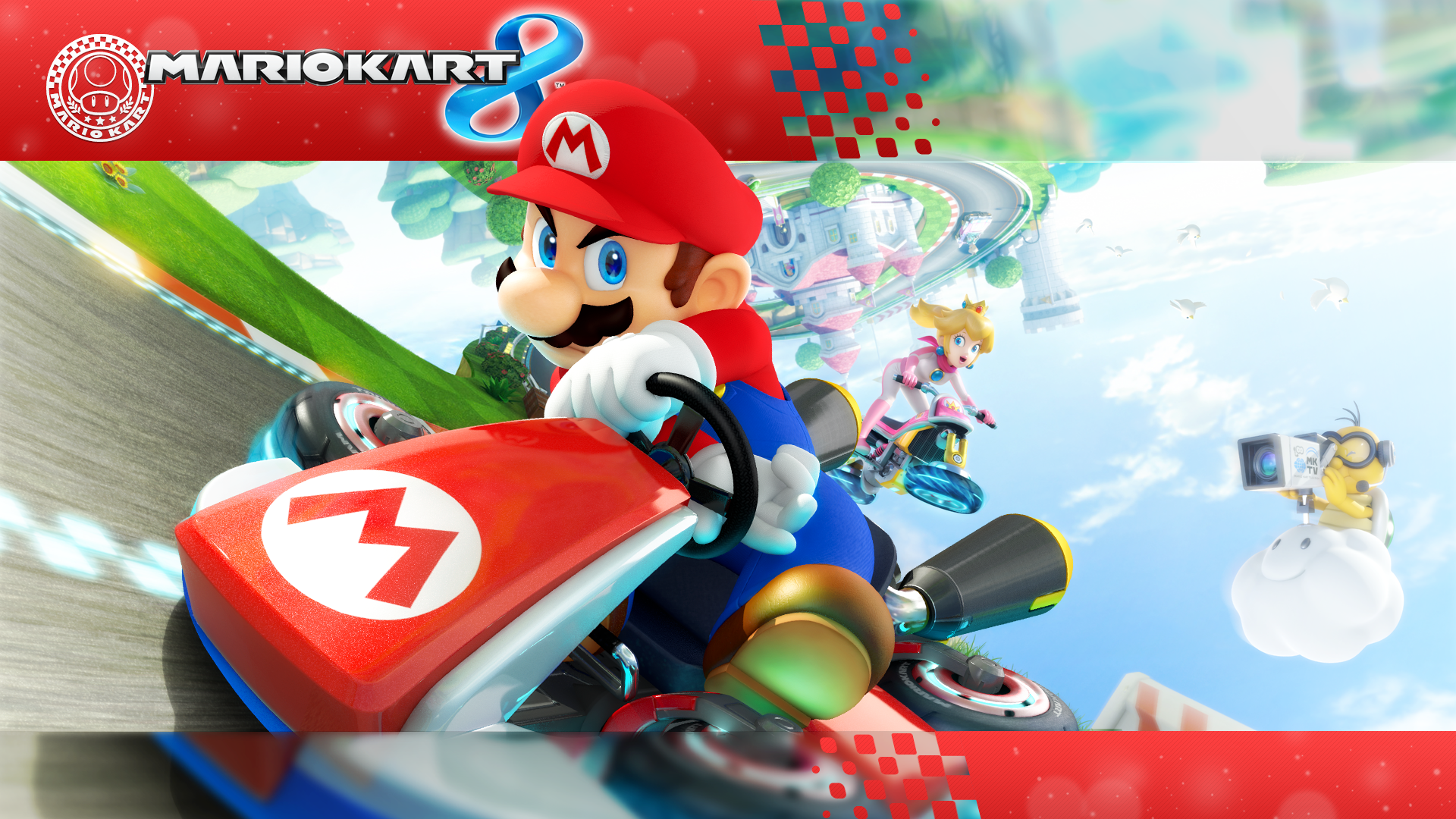 Mario Kart 8 Background: 1920 X 1080 Mario Kart 8 Wallpaper By MaxiGamer On DeviantArt