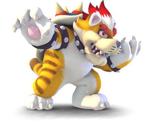 [Blender] If Meowser were in SSB4. by MaxiGamer