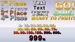 Smash 4: Various styles of text (Menus, Dmg gauge)