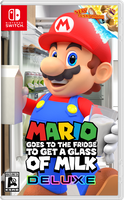 Mario Goes to Fridge to Get a Glass of Milk Deluxe by MaxiGamer