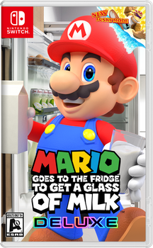 Mario Goes to Fridge to Get a Glass of Milk Deluxe