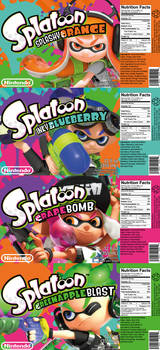 Splatoon-branded Soda Can Labeling Concept
