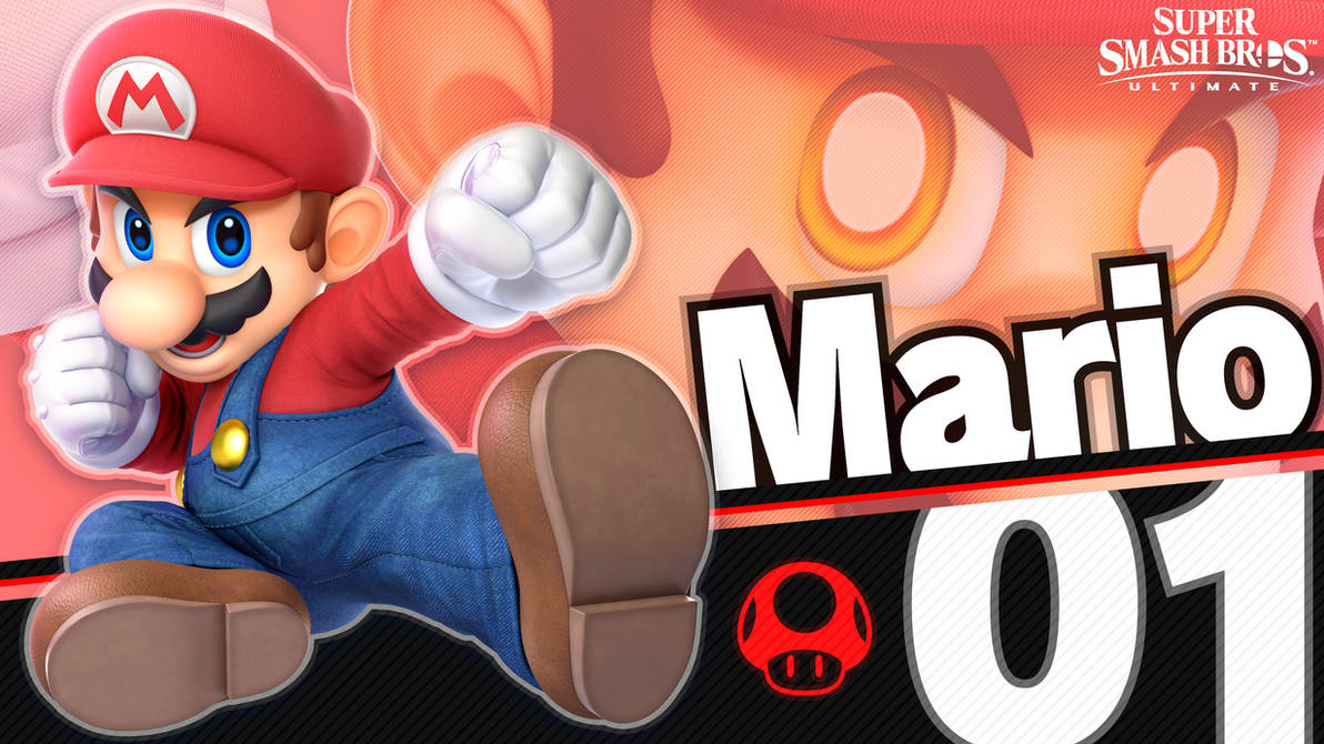 4k Super Smash Bros Ultimate 01 Mario By Maxigamer On