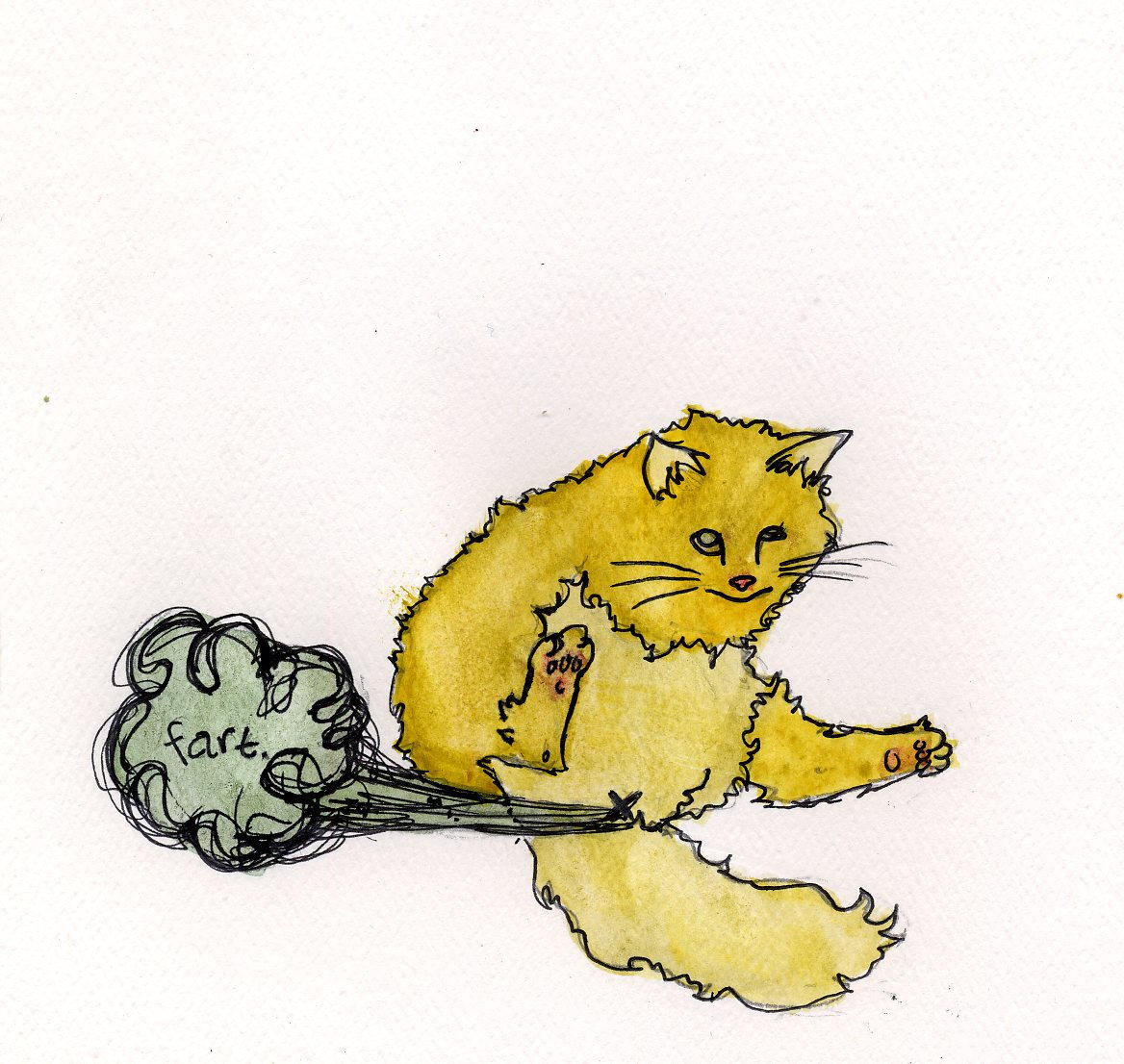 Two-Legged Cat Farting by TheLeprechaunBandit
