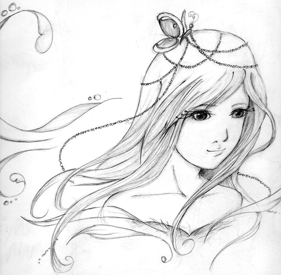 how to draw a fairy princess