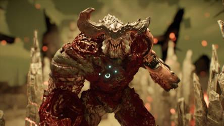 Doom (2016) cyber demon screenshot by skullhunter343