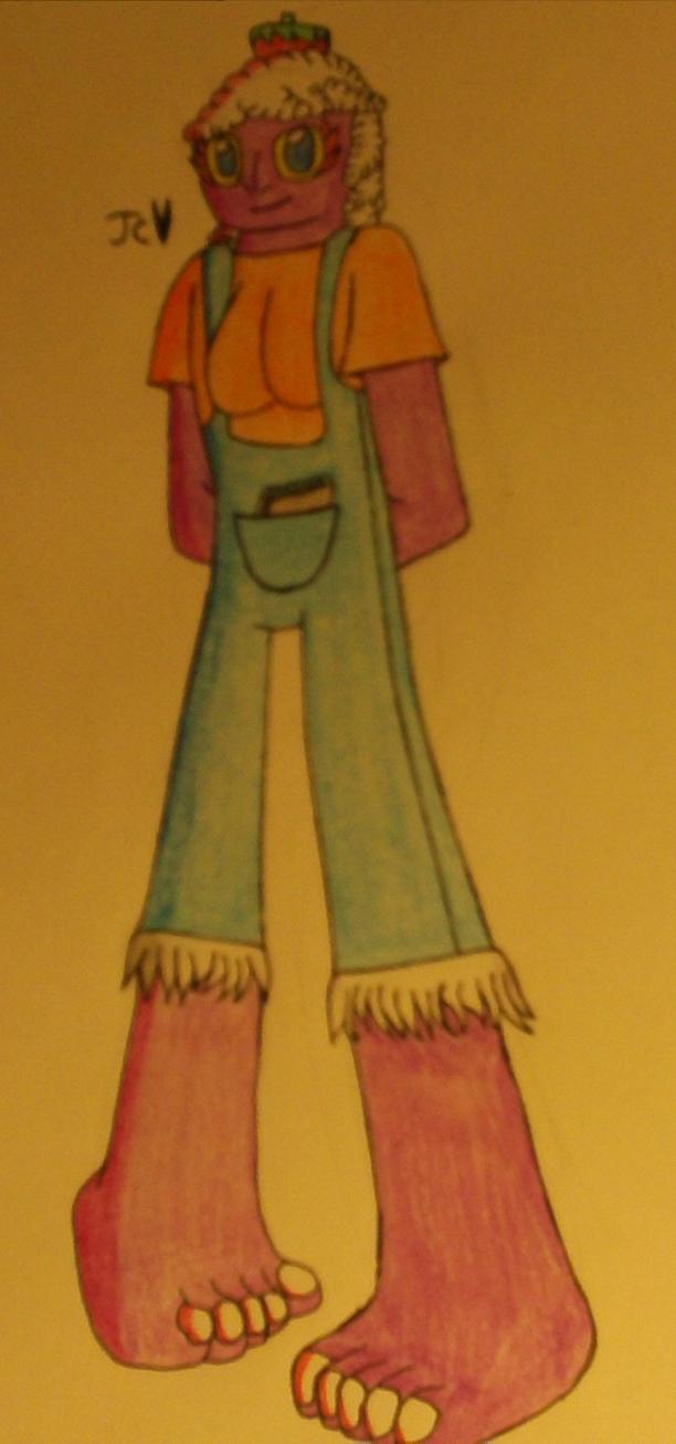 purple girl by vchannel