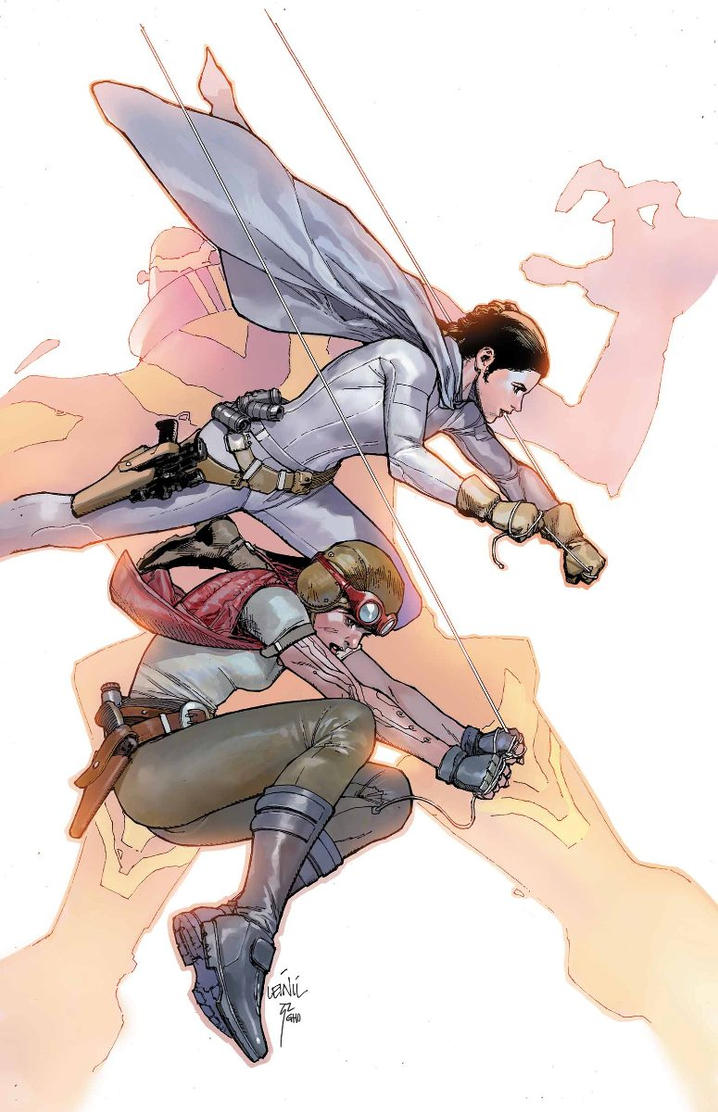 Leia and Aphra by zack-awesome