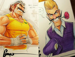 Wario and Waluigi by zack-awesome