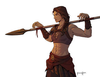 Kassandra The Misthios by zack-awesome