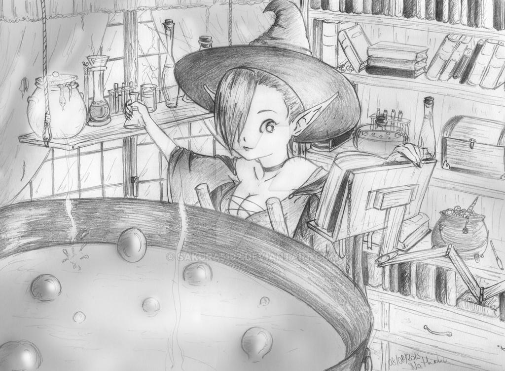 little witch, potion maker by Sakura5192