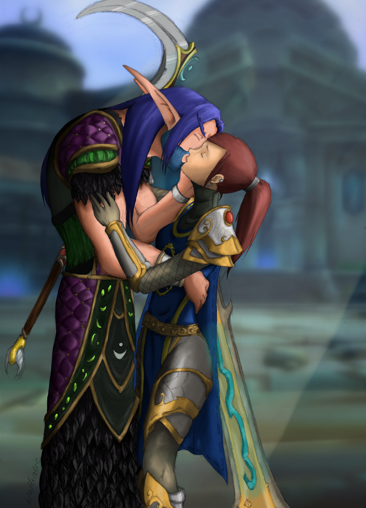 Wow human and night elf exploited pics