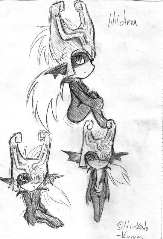 Midna sketch by RuiNami