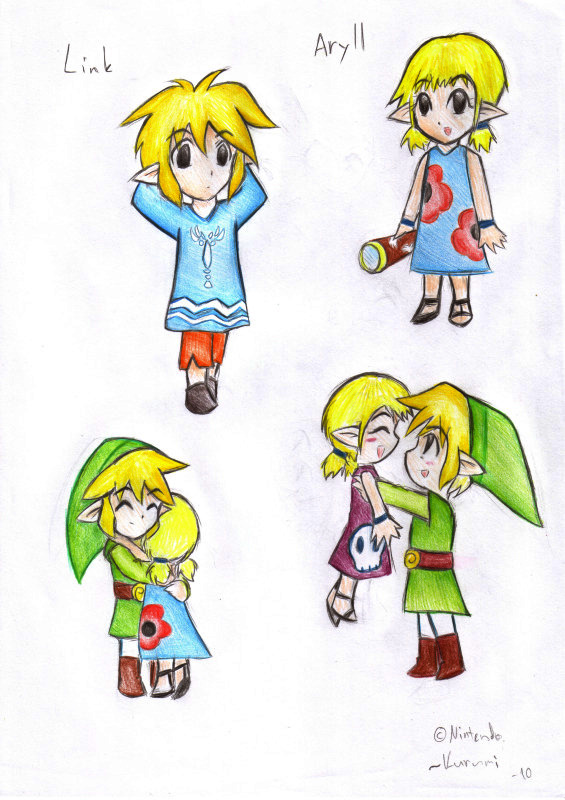 Link and Aryll pics by RuiNami