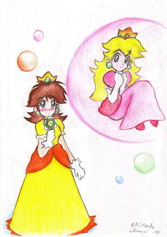 Request - Peach in bubble by RuiNami