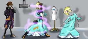 Rosalina Mascot Suit TG/TF Sequence