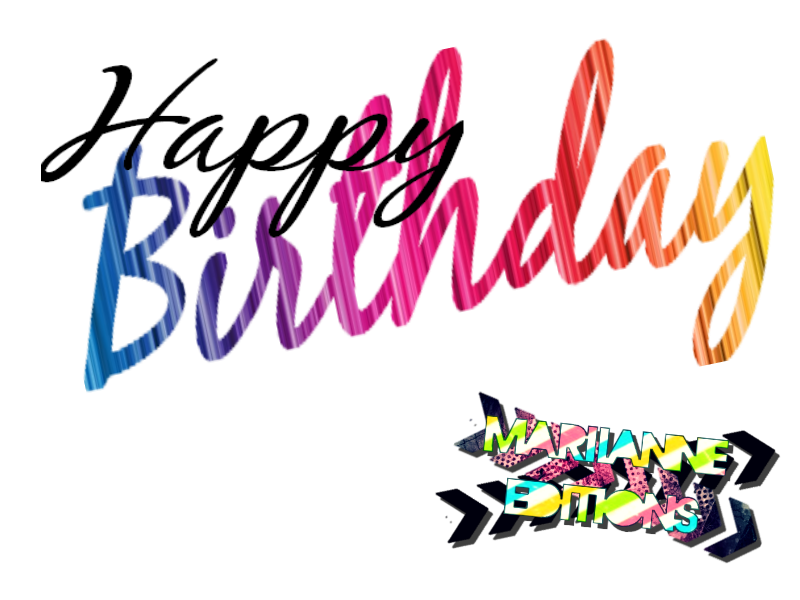 happy birthday text by mariianneeditions on deviantart