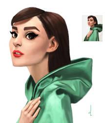 Audrey Hepburn by omarito