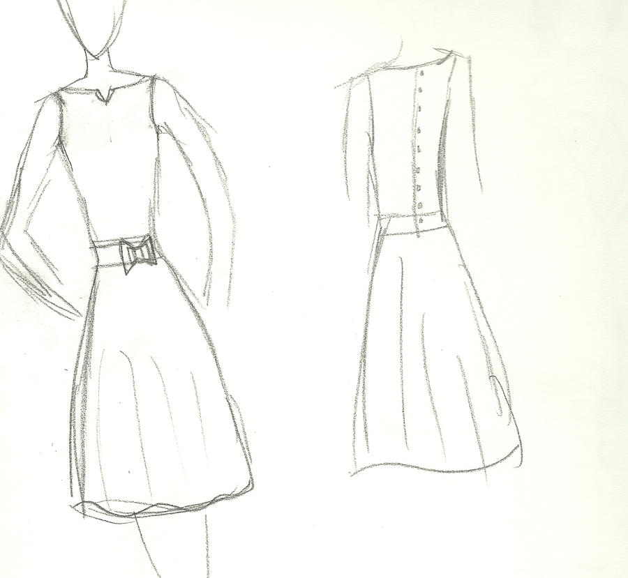 Simple Dressing Design : ... (19) Gallery Images For Simple Dress Designs... Bow Drawings
