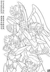 Happy Birthday to Seiya by FlyingKirin