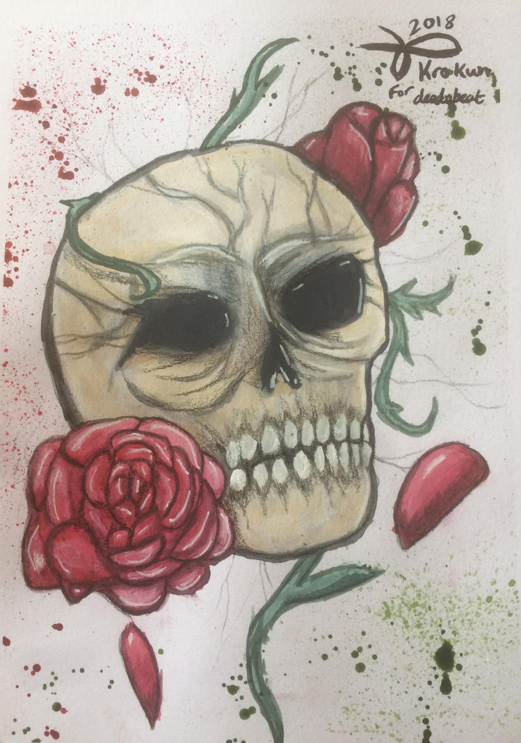Of skulls and roses by Kro-987