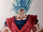 Super Saiyan Blue Kaioken Son Goku Copic Markers by Kotado