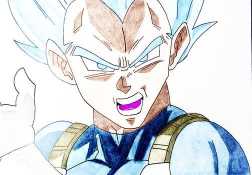Vegeta Blue Sketch