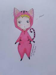 Pink cat onesie~