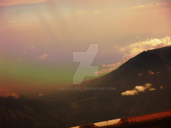 Rainbow on mountains