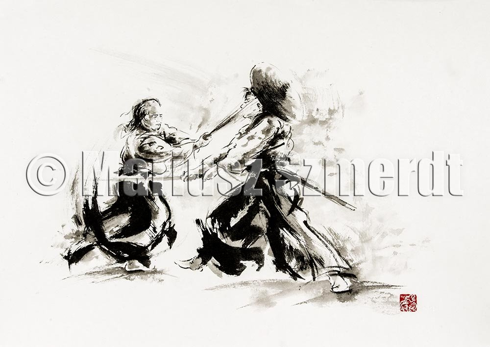 Two samurais fighting by MariuszSzmerdt