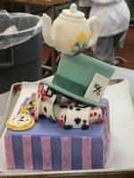 Alice in Wonderland dummy cake by spitefulmushroom
