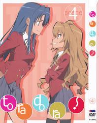 Toradora DVD Cover 4 English by staee