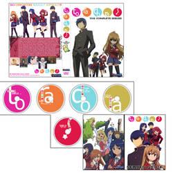 Toradora Boxset Enlgish DVDs by staee