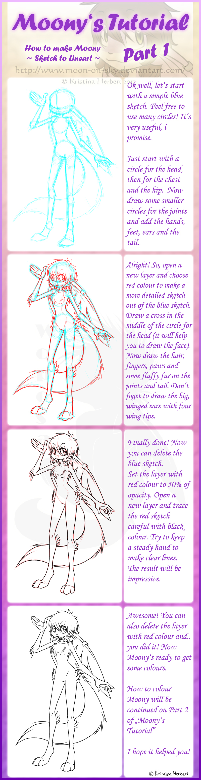 Moony's Tutorial - Lineart by MoonyWings