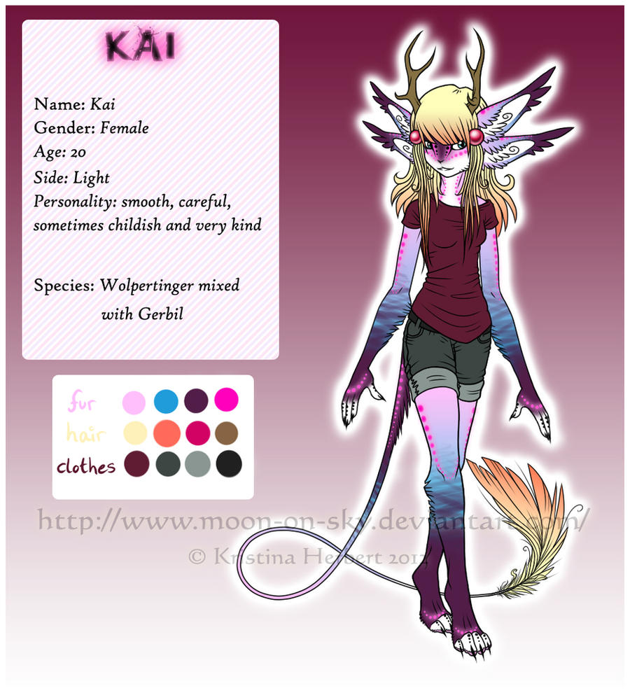 Kai ref by MoonyWings