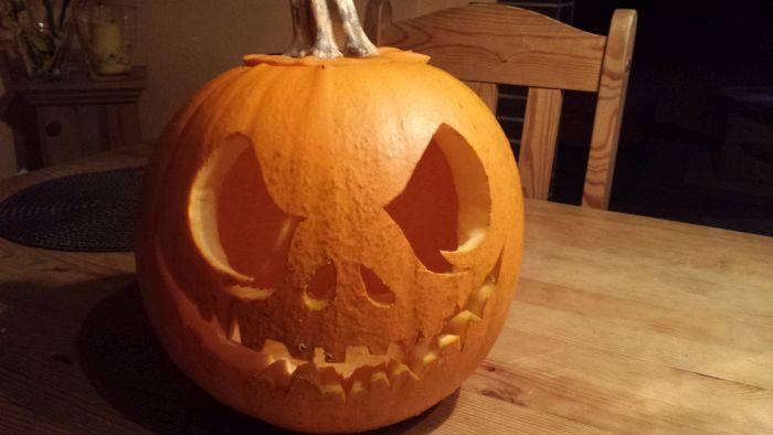 Jack Skellington Pumpkin by MoonyWings