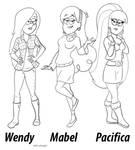 Teen girls of Gravity Falls