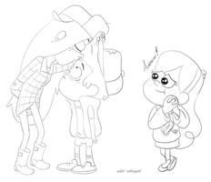 Kissing the Dipper mark by wild-cobragirl