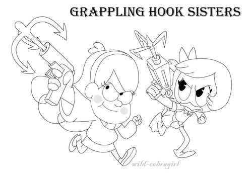 Grappling hook sisters by wild-cobragirl
